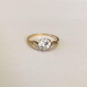 Vintage Lind 14k HGE CZ Ring
